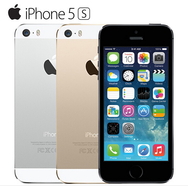 Original Hot Sale Apple iphone 5S Cell Mobile phone LTE Dual core Unlocked 16GB ROM 8MP IOS GPS