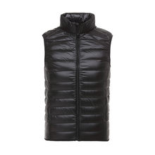 2018 New Brand Casual Sleeveless Jacket Men Autumn Winter 90% Ultralight White Duck Down Vest Male Slim Vest Mens Windproof Warm(China)