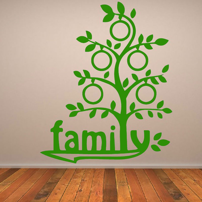 Hot Sale Family Tree Wall Decor Sticker Vinyl Art Home Adhesive Waterproof Living Room Decal In Stickers From Garden On