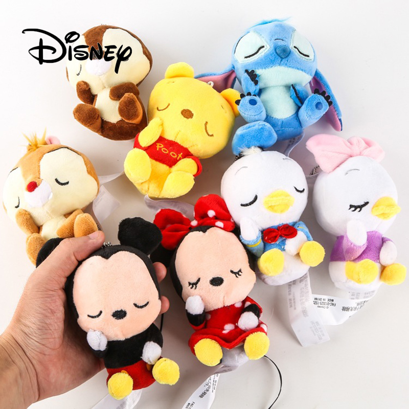 Disney Q Version Plush Toys Mickey Mouse Hand Puppet Sleep