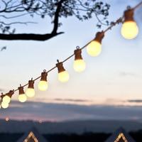 Thrisdar 13M G50 LED Globe Festoon LED String Light Outdoor Garden party Patio Globe Ball Wedding Christmas Pedant Garland Light