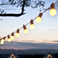 Thrisdar 13M G50 LED Globe Festoon LED String Light Outdoor Garden party Patio Globe Ball Wedding Christmas Pedant Garland Light