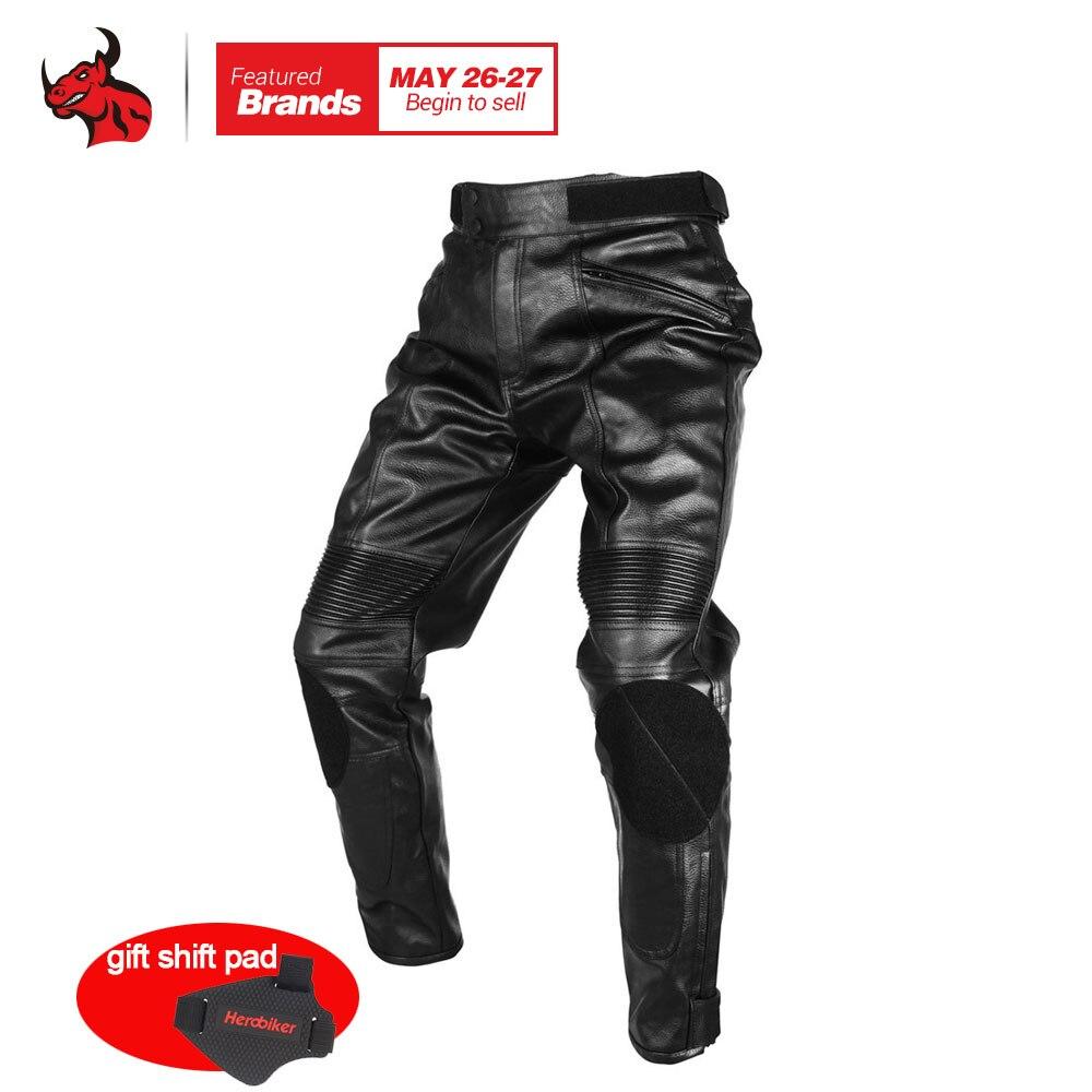 Духан мото брюки Мотокросс езда Защитные брюки Водонепроницаемый ветрозащитный PU искусственная кожа Racing Спортивные штаны