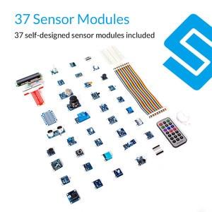 Image 3 - Sunfounder, kit de 37 módulos em 1 caixa sensor v2.0 para raspberry pi 4b 3b + 3b 2b b + rpi 1 modelo b + kit iniciante