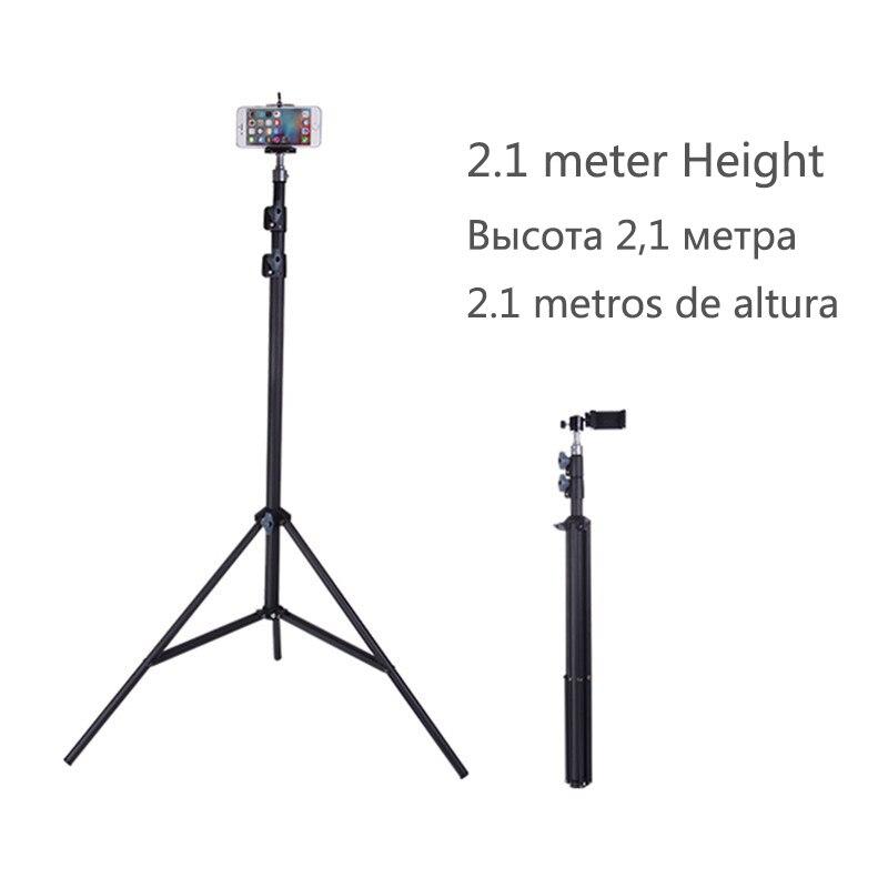 210 cm Portable Caméra Trépied Support à Réglable Rotatif Rétractable trépieds Smartphones Montage pour iPhone 8 7 6 s 6 SE X