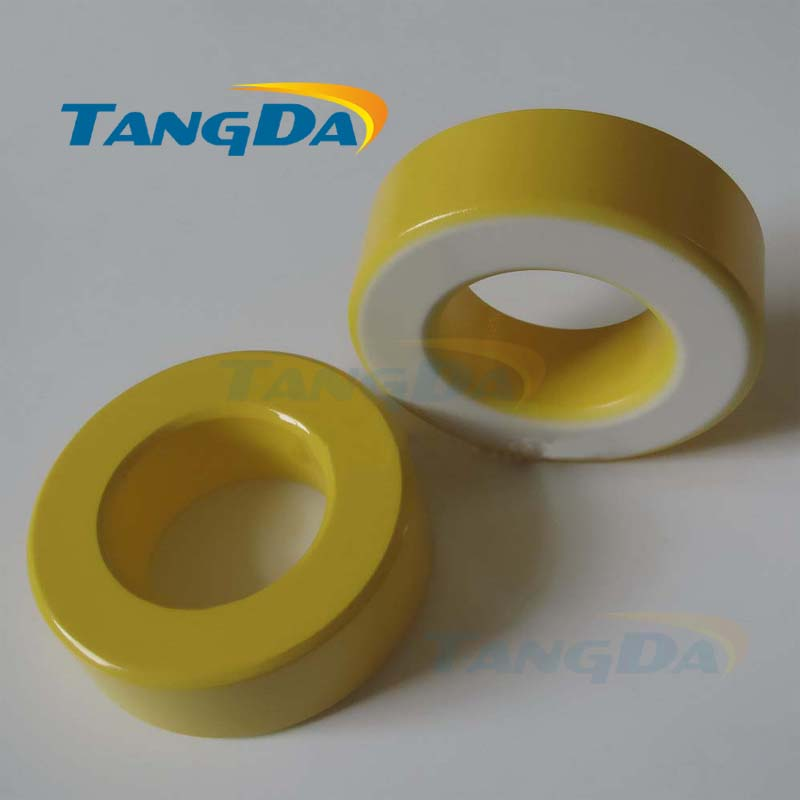 Tangda Iron powder cores T400-26D OD*ID*HT 102*57*33.5 mm 262nH/N2 75ue Iron dust core Ferrite Toroid Core toroidal yellow white