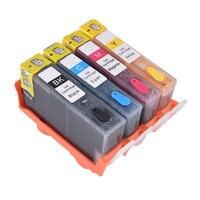Цветной совместимый 364 многоразовый чернильный картридж для HP Photosmart 7510 7515 7520 B010a B110a B110c B110e B111a Officejet 4620