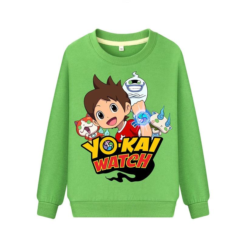 Child Cartoon Yokai Watch Print Hoodies Hoodie Kids Spring Autumn Casual Sweatshirts Boys Girls Long Sleeve Pullover Coat DZ101 (1)