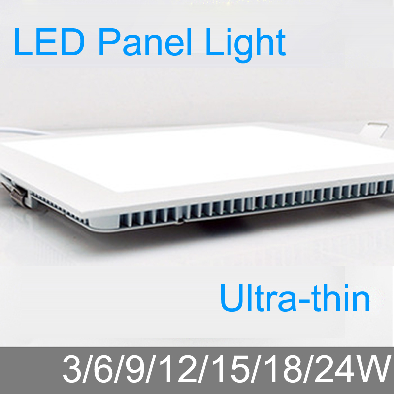 Thickness 3W/6W/9W/12W/15W/18W/24W LED downlight  Square LED panel / - Indoor Lighting