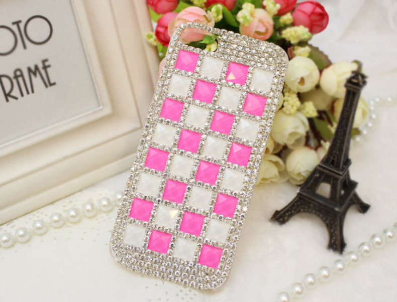 For Huawei P7 case rhinestone mobile phone cases Transparent case protective cover colorful glossy case 19