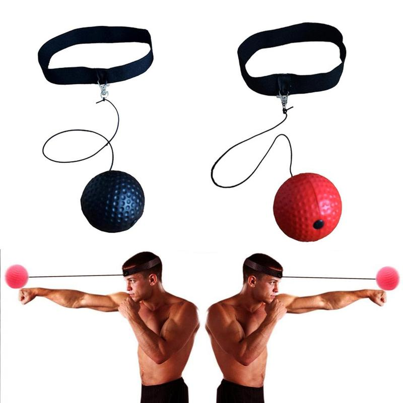 PU Ball Speed Ball Boxing Magic Ball Reaction Ball Fight Training Reaction Ability Coordination Vent Fist Speed With Head Band