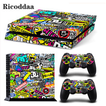 Vinyl Decal Skin For PS4 Console Cover For Playstaion 4 Console Skin Stickers+2Pcs Controle Protective Skins Accessories