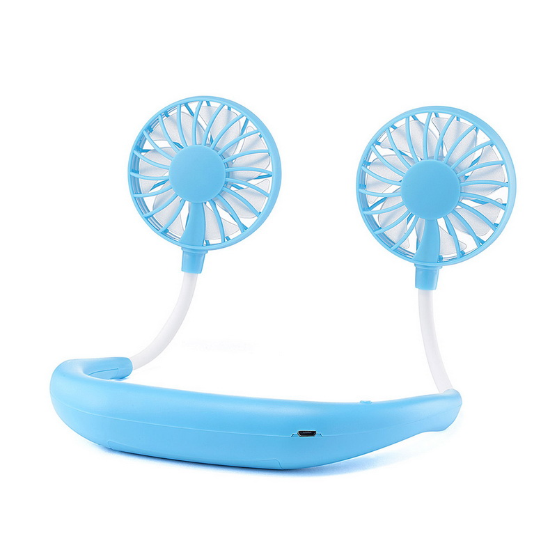 Portable Neck band Fans With 3 Wind Adjustable Speed Fans For Traveling And Office 10