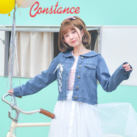 2018 New Cute And Sweet Spring Original Design Preppy Style Turn Down Collar Jane Solid Collar