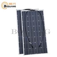 2 шт. 100 Вт Панели солнечные полу гибкие 200 Вт солнечной системы фотоэлектрических Панели солнечные 12 В батареи/яхта/RV /car/лодка AU/ru/UA/ca наличии
