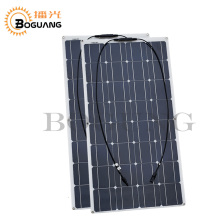 Solarparts 2pcs 100w 200watt semi flexible Solar Panel china mono solar cell module system 12v battery/yacht/RV/car/boat charger