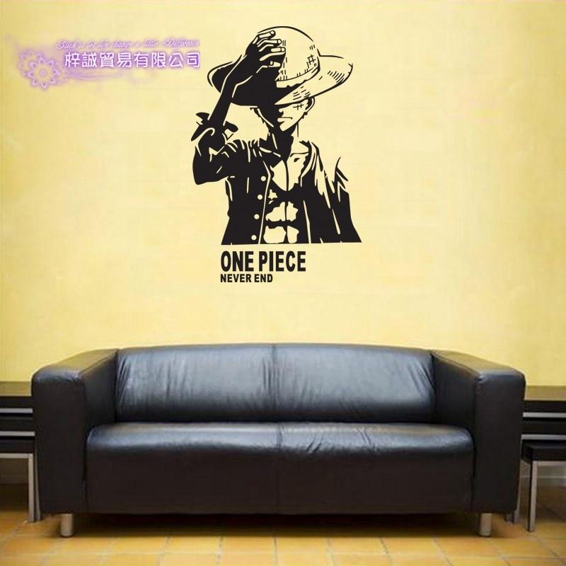 DCTAL ONE PIECE Silhouette Decal Japanese Cartoon Wall Sticker Vinyl ...