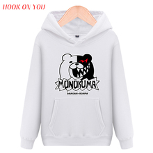 2017 Fashion Hot Anime Männer Vliese Danganronpa Monokuma Art Casual Pullover Hoodies Mann Sweatshirts Lustige Kleidung