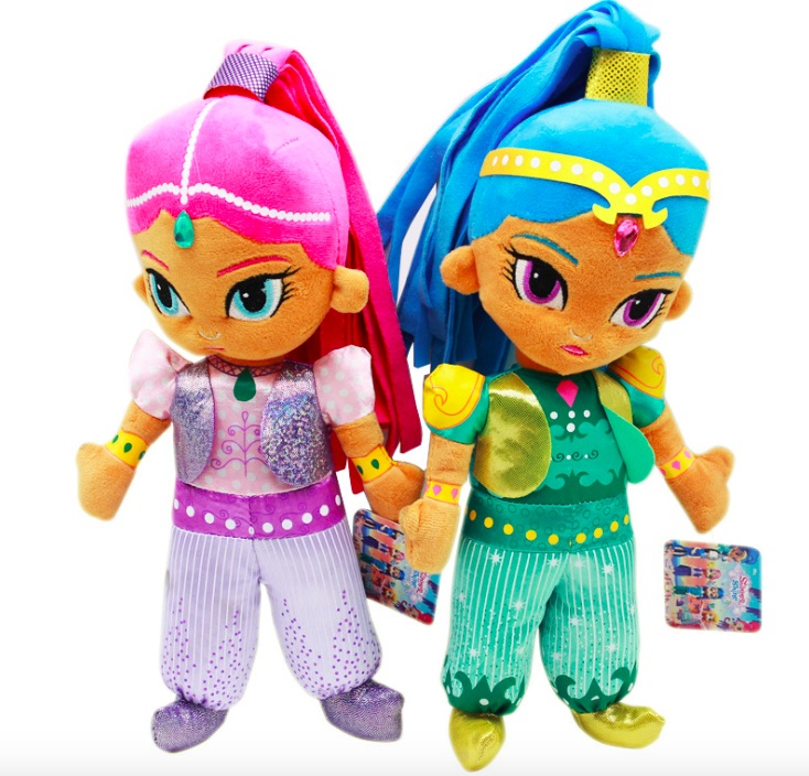 2pcs/set Shimmer Sister Cute Stuffed Dolls Shine Girl Plush Toys For Children Gift 30cm 30cm stuffed