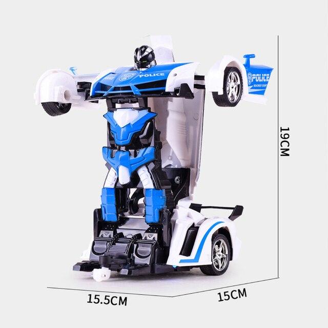 RC Auto Robot di Trasformazione di Sport Modello di Veicolo Robot Giocattoli Fresco Deformazione Auto Per Bambini Giocattoli Regali Per I Ragazzi 5