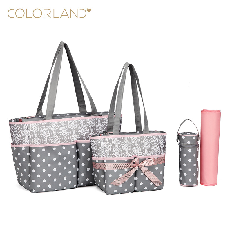 5pcs/Set Fashion Mother Bag Diaper Bags For Mom Baby Large Capacity Nappy Bags Organizer Stroller For Maternity Free Shipping