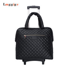 16 inch Luggage,Multifunction Carrier,Women Portable Carry-Ons,Universal wheels Suitcase,PU leather bag,Trolley case box