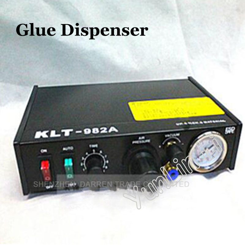 110V/220V Automated Glue Dispenser Solder Paste Liquid Semi Automatic Dispensing Machine Controller Dropper KLT-982A klt 982a solder paste glue dropper liquid auto dispenser controller black