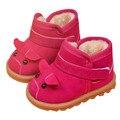 Botas de Neve do bebê para meninos e meninas Crianças Sapatos Crianças Sapatos de Neve Botas de Pele De Carneiro Pele Real Couro Geanuine Levert Feb06 Dropship