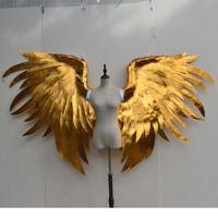Big size gold angel wings beautiful photo shooting props high quality display supply 4KG not fit for long time wear!
