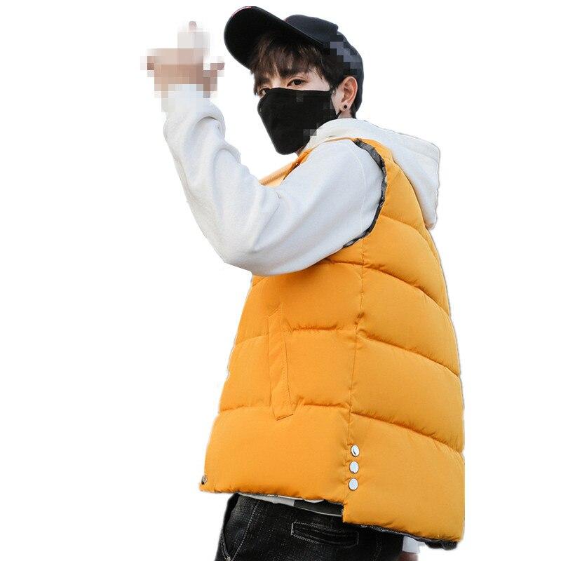 100% QualitäT A1466 2019 Neue Herbst Winter Jugend Pop Männer Frauen Koreanische Version Mode Trend Mantel Warme Weste Günstige Großhandel