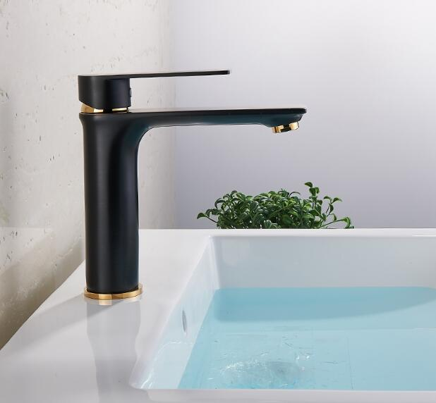 Basin faucet brass bathroom faucet luxury single lever gold and black finished sink faucet basin faucet square international award design brass single lever bathroom basin faucet bathroom sink faucet bathroom faucet