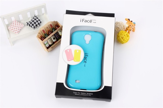 High quality iFace Case For Samsung Galaxy SIV S4 i9500;Free shipping with retail package,50pcs/lot