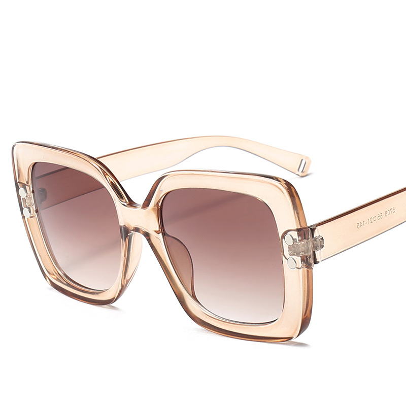NYWOOH Oversized Sunglasses Women Luxury Transparent Gradien