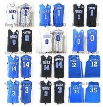 0f049e77da1 Duke Blue Devils College Basketball Jerseys Marvin Bagley III Jayson Tatum  Garyson Allen Kyrie Irving Zion