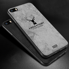 For iPhone SE Case Cloth Distressed Hard