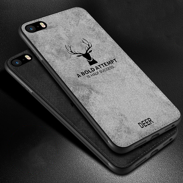 Чехол для iPhone SE тканевый Жесткий Чехол для Apple iPhone 5S 5 6s 7 8 Plus Мягкий чехол для телефона рамка ткань Fundas