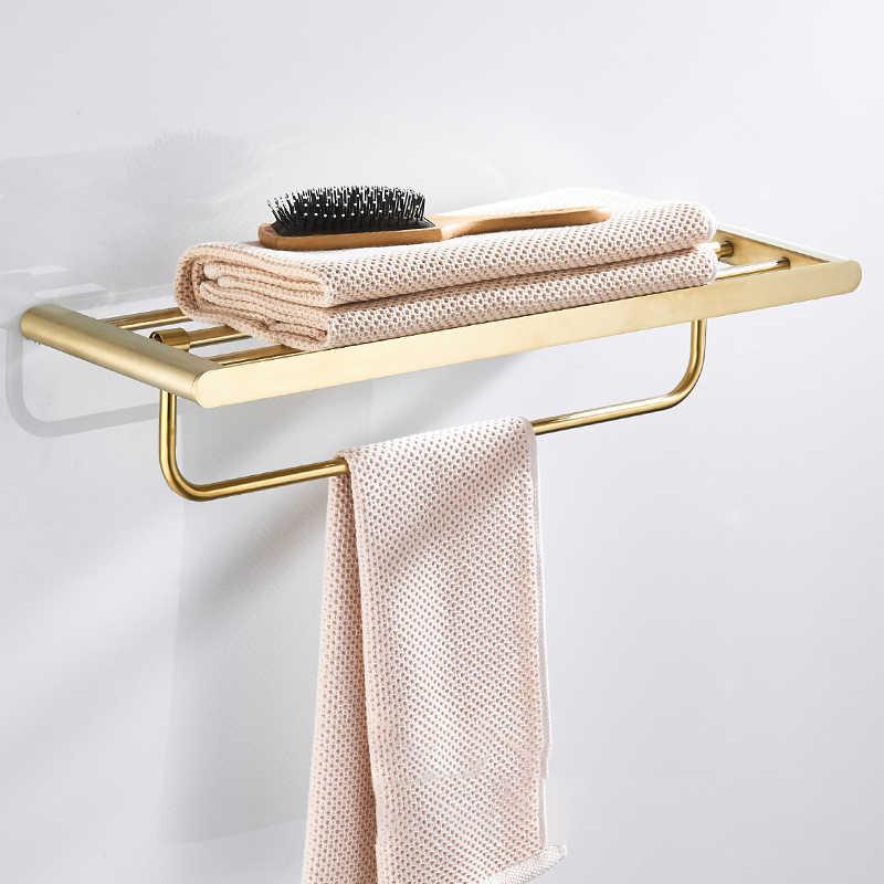 Złota szczotka zestaw akcesoriów łazienkowych złoty mosiężny hak wieszak na ręczniki wieszak na ręczniki półka barowa uchwyt na papier uchwyt na szczoteczki do zębów półka łazienkowa