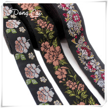 Ethnic ribbon Polyester cotton webbing embroidered jacquard trim ruban ethnique lace embellishments for sewing 5yards/lot