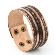 Fashion Jewelry Hologram Bracelets Rock Bikers Wide Bangle Woven Rivet Leather Bracelets Men Casual Vintage Punk Bracelet 1316