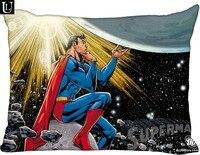 Novo superman batman fronha personalizado com zíper retângulo capa de travesseiro casos tamanho 40x60cm (dois lados)