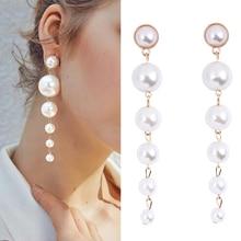 hot deal buy long pearl earrings for women pendant earrings fashion jewelry fashion jewelry large earing wholesale kolczyki