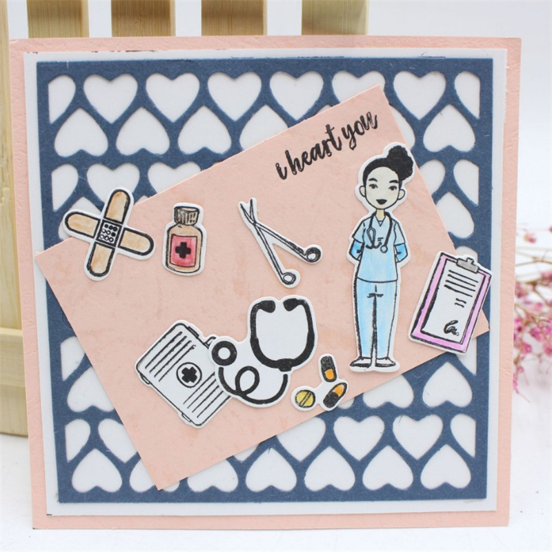Doctors Metal Die Cutting Scrapbooking Embossing Dies Cut Stencils Decorative Cards DIY album Card Paper Card Maker polygon hollow box metal die cutting scrapbooking embossing dies cut stencils decorative cards diy album card paper card maker