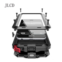 JLCD Phone Case Doom Armor Shockproof Life Dropproof Luxury Aluminum Metal Silicone Protector Case For Iphone