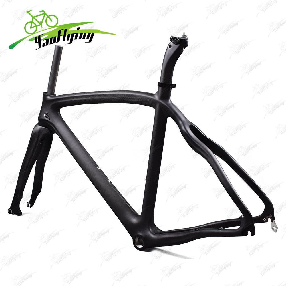 2017 high quality disc brake carbon road bicycle framet1000 carbon fiber road bike frame