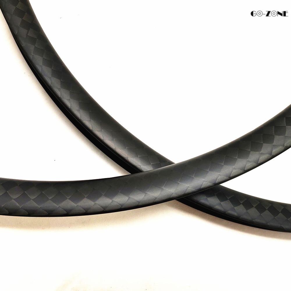 Flash Deal Go-zone 27.5 er mountain bike rim 37x24mm XC/AM tubeless matte/glossy 650B mtb dics brake carbon rim 24H 28H 32H 36H 4