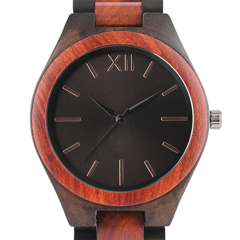 Luxury reloj Cool Men's Wooden Quartz Watches Creative Unique Design Dial Bracelet Clasp Cost-efffective Casual Wood Watch Gift natural hand made classic red wooden men quartz watch bracelet clase full wood band simple scale dial cool gift reloj masculino