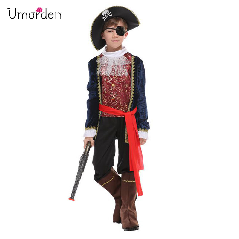 Deluxe Pirate Captain Costume for Kids