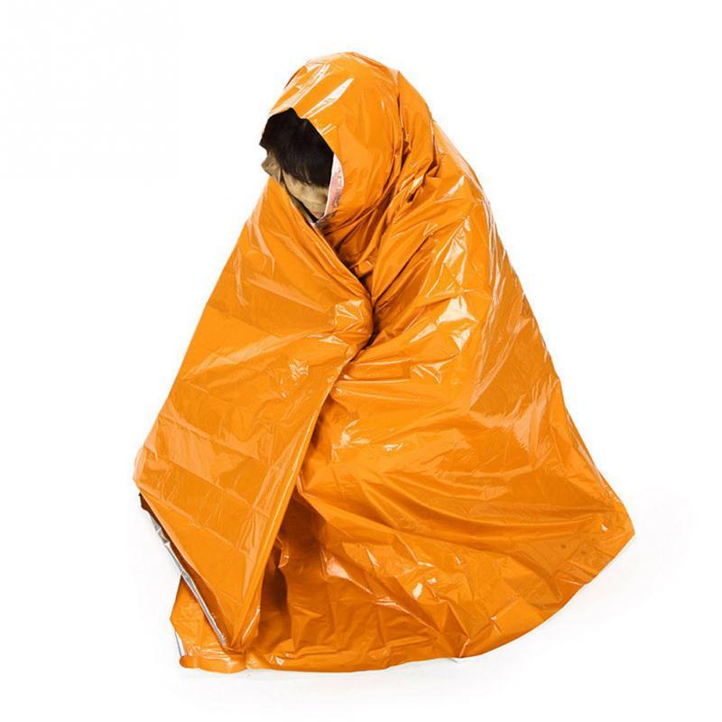 Camping Mat Pad Orange Thin Emergency Survival Rescue Curtain Outdoor Life-saving Blanket Camping Mat