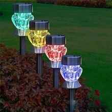Set of 2 Waterproof Stainless Steel Solar Lights