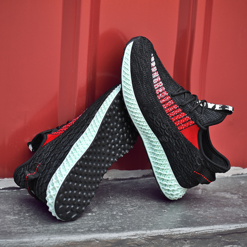 c94cd6a8df686 2019 New Luxury Design Men Casual Shoes Soft Flyknit Breathable Sneakers Men  Spring Summer 4D Print Male Shoe Big Size 39-46